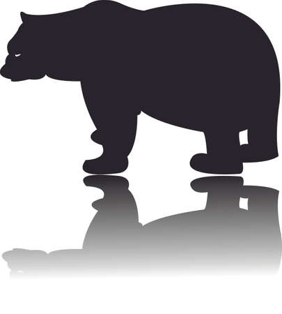 Silhouette of black Bear Vector