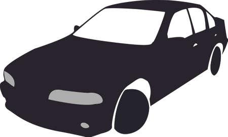 Silhouette of black Car Vector