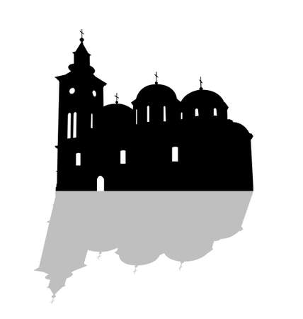 Serbian Orthodox Church Illustration