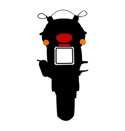 rear view: Motorcycle Silhouette Rear View Illustration