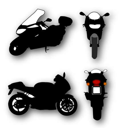 motocycle: Collection of Motorcycle Silhouettes