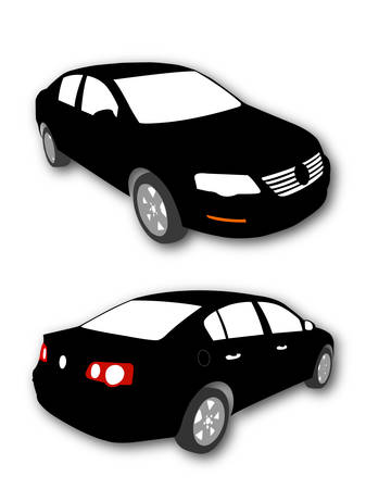 Silhouettes of Car vector black Vector
