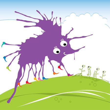 funny monster: Violet funny monster