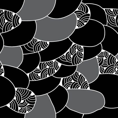 figuras abstractas: Modelo inconsútil con las figuras abstractas. Serie monocromo