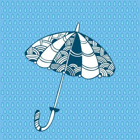 dribbling: Decorative umbrella  Illustration
