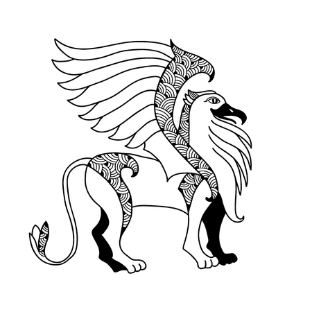 griffon: Mythological Griffin. The series of mythological creatures