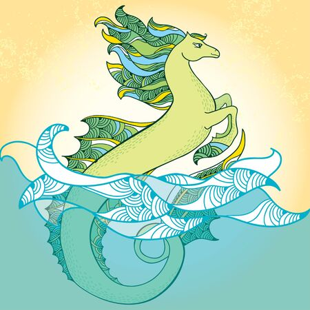 creatures: Sea horse. Mythological Hippocampus. The series of mythological creatures