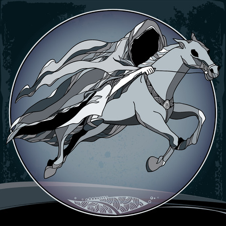 dobbin: Mythological Nazgul in the round frame. The series of mythological creatures