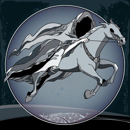 mythological: Mythological Nazgul in the round frame. The series of mythological creatures