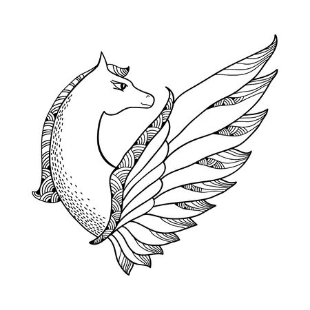 mythological: Mythological Pegasus. The series of mythological creatures Illustration