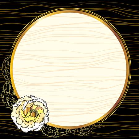 vintage gold frame: Vintage gold frame with chrysanthemum Illustration