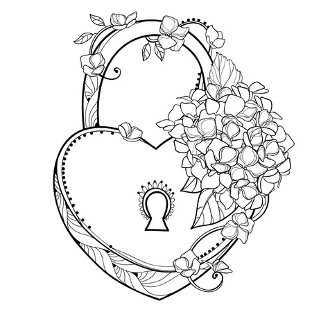 Background of a bouquet of flowers. Contour plant for your design or coloring book.