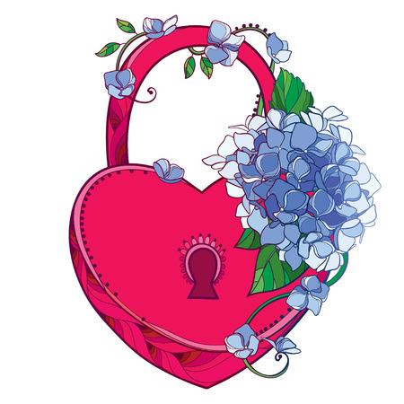 Red flower bouquet Hydrangea for romantic design.