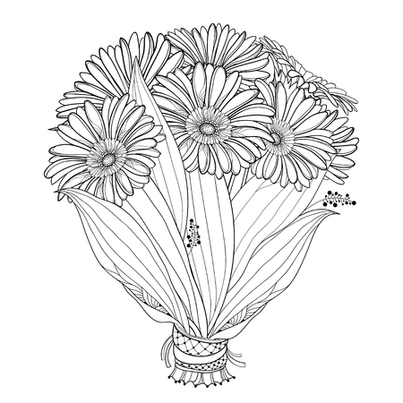 Bouquet of Gerbera flower isolated.