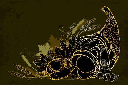 Gold Cornucopia or Horn of plenty.