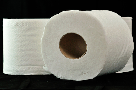 The stack of roll tissue. photo