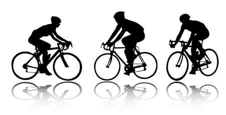 bicyclists - vector Ilustração