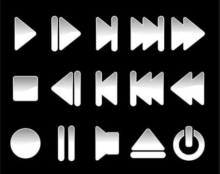multimedia symbols 2 - vector  Vector