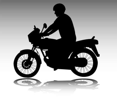 motociclista: motociclista - vettoriale