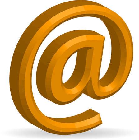 3D e-mail symbol - vector Illustration