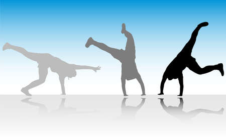 figure jump in three steps - vector Stock Vector - 5743235
