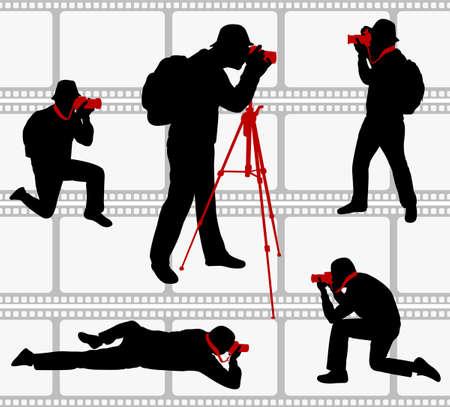 sparare: sagome di fotografi