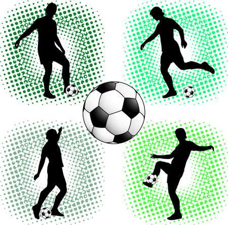 jugadores de soccer: siluetas de jugadores de f�tbol