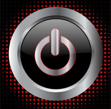 power button - vector Illustration