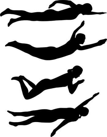 stili di nuoto Vettoriali