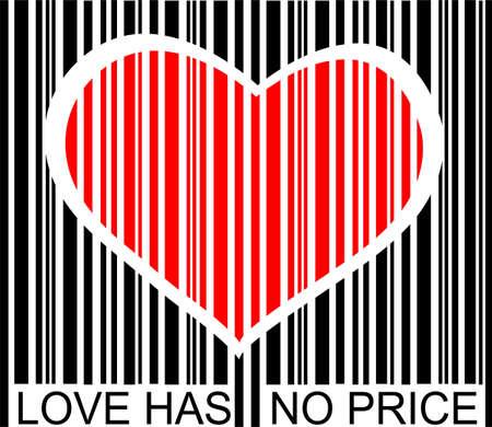liefde heeft geen prijs  Stock Illustratie
