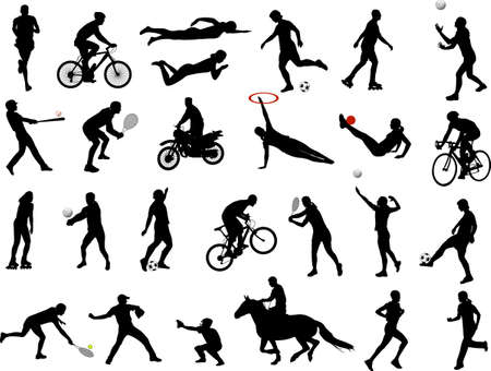 sport silhouettes collection Vector