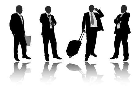man on cell phone: Gente de negocios - vector