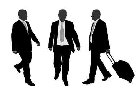 business people walking: business people walking - vector
