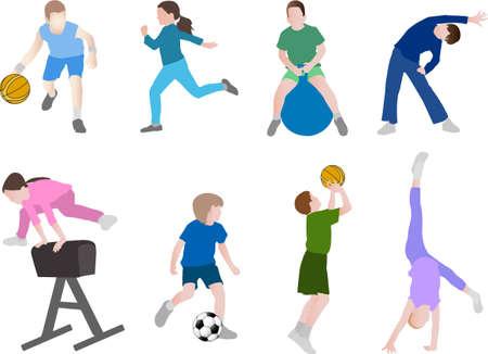children sport  - vector Ilustração
