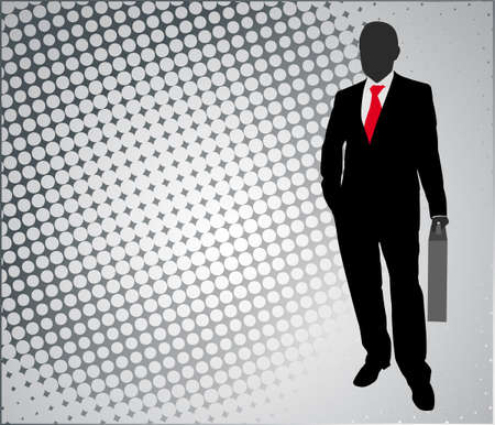 entrepreneur: businessman on the abstract background - vector