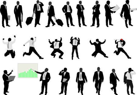 business people collection - vector Ilustração