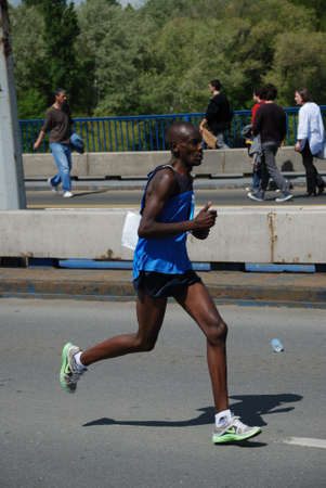 henry: BELGRADE, SERBIA - APRIL 22: Henry Kemboi runs on April 22, 2012 in Belgrade marathon. Henry Kemboi was second in 2:22:54 Editorial