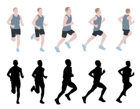 hombre deportista: corredor de marat�n - vector Vectores