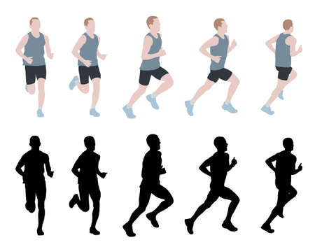 coureur: coureur de marathon - vecteur
