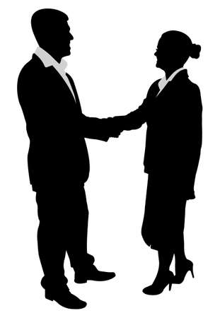 business people handshake Vector
