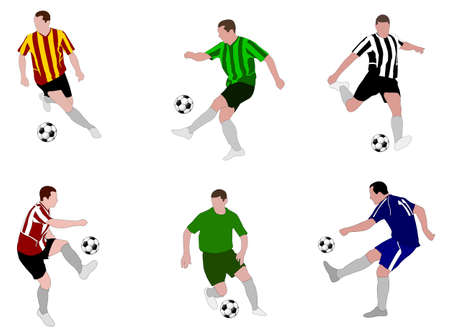 sports league: soccer players illustration 2 - vector