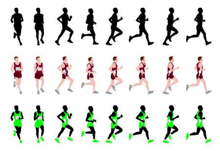 road runner: marathon runner - vector