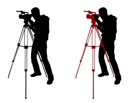 cameraman silhueta - vector Ilustração
