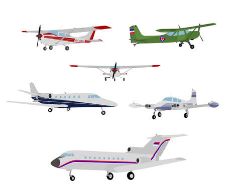airplanes illustration - vector Stock Illustratie