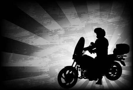 motorcyclist: motorcyclist on the abstract background - vector