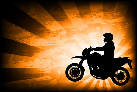 motorcyclist on the abstract background - vector Vector