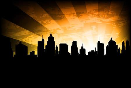 city skyline on the abstract background Illusztráció
