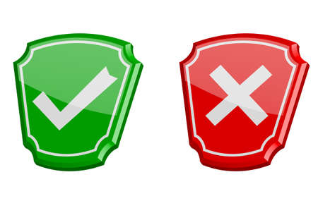 yes or no 3d vector icons Vector