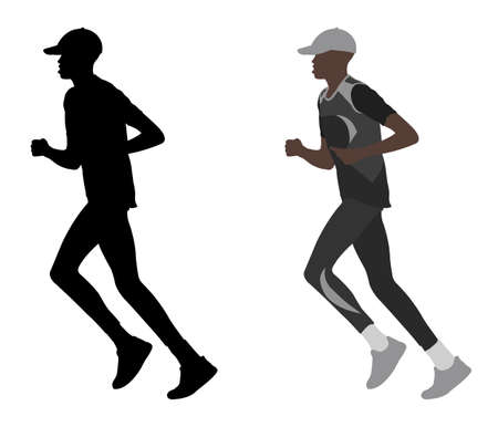 long distance: marathon runner - vector