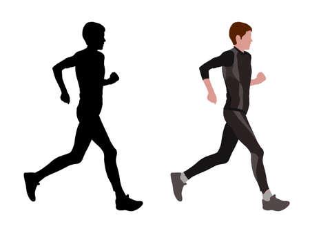 female marathon runner - vector